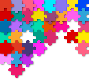 Image of a colorful, partially complete puzzle
