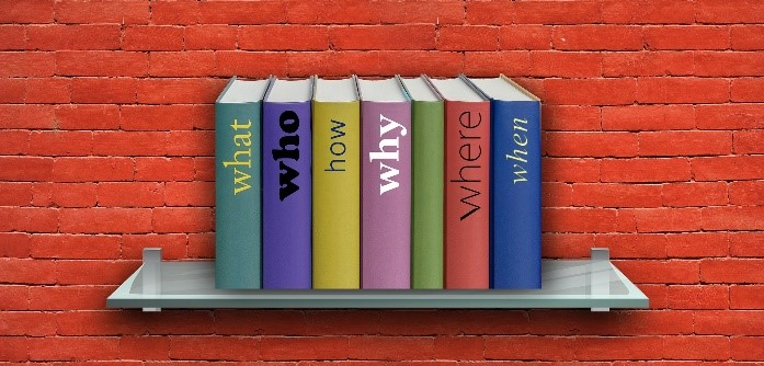 Books titled what, who, how, why, where, and when - proposal management keywords